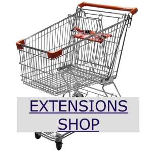Shop for extra services and extensions