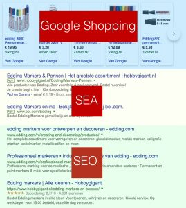 Elements in a search engine