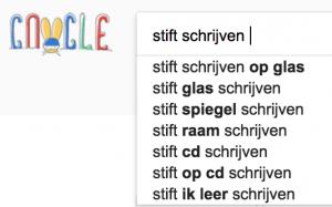 keyword suggesties in Google