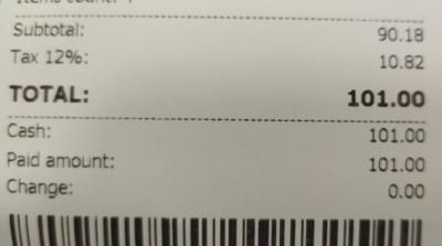 Customer Receipt
