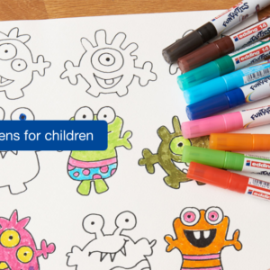 Markers and pens for children
