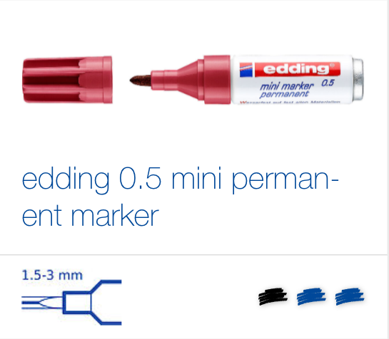 edding 0.5 mini permanent marker